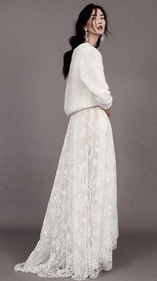 Kavier Gauch Collection 2015. Showing how to work Knitwear on your wedding day!